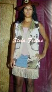 ALUGUEL DE FANTASIA ADULTO FEMININO-8014-CAWGIRIL XADREZ-STELA FESTAS