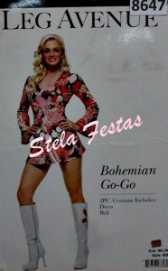 ALUGUEL DE FANTASIA ADULTO FEMININO-8647-ANOS 70 BOHEMIAN GOGO-STELA FESTAS