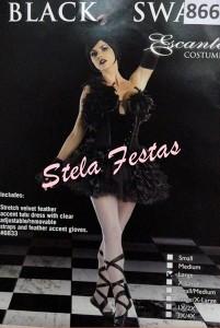 ALUGUEL DE FANTASIA ADULTO FEMININO-8661-CISNE NEGRO-STELA FESTAS