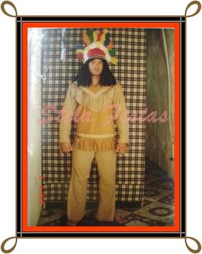 ref-4185-aluguel fantasia adulto masculino-Indio-Stela Festas
