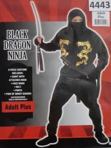 ref-4443-aluguel fantasia adulto masculino-ninja-Stela Festas
