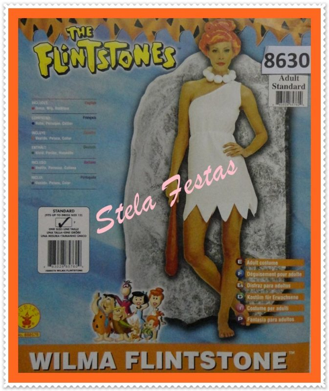 ref-8630-aluguel fantasia adulto feminino-wilma flintstone-Stela festas